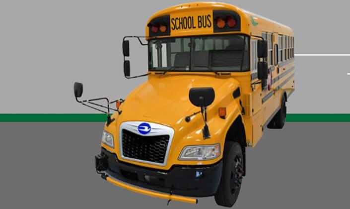 blue bird EV bus